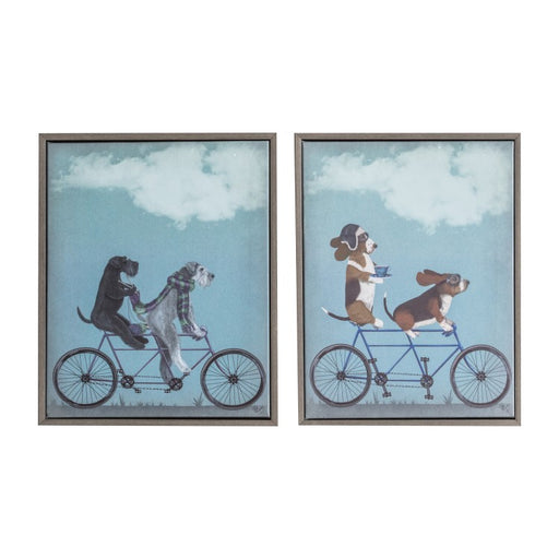 Hounds on Tandems Canvas - Decor Interiors -  House & Home