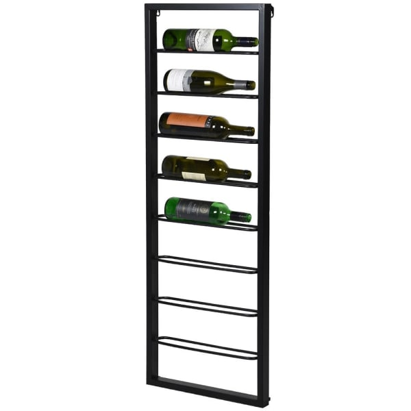 Black Metal 8 Bottle Wine Rack - Decor Interiors -  House & Home
