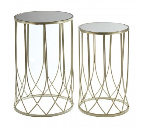 Avantis Mirrored Top Tables - Decor Interiors -  House & Home