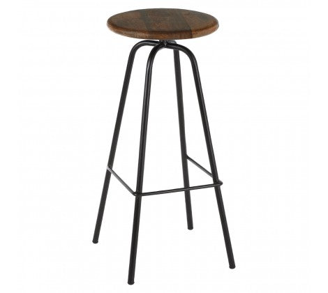 Acacia Wood Bar Stool - Decor Interiors -  House & Home