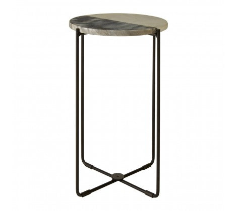 Black & White Marble & Iron Table - Decor Interiors -  House & Home