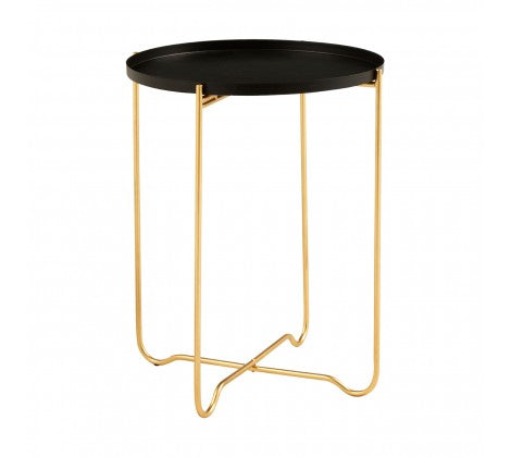 Templar Black Tray Top Side Table - Decor Interiors -  House & Home