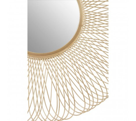 Templar Twisted Wire Wall Mirror - 74 x 74 cms - Decor Interiors -  House & Home