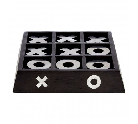 Black Wood Tic Tac Toe Game - Decor Interiors -  House & Home