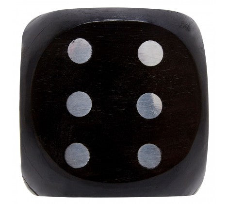 Black Wood Dice Box - Decor Interiors -  House & Home