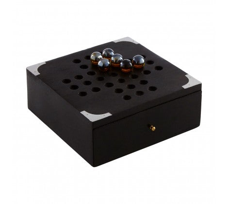 Wooden Black Mango Solitaire Game - Decor Interiors -  House & Home