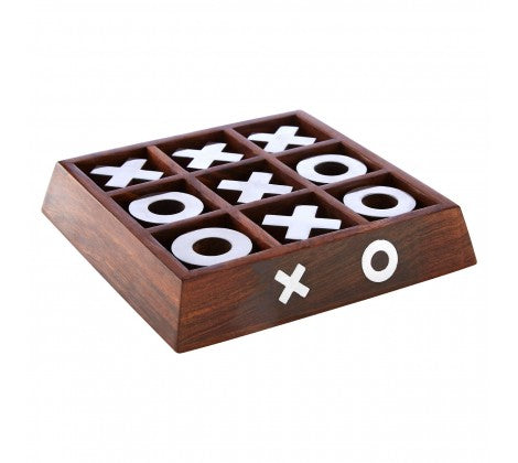 Sheesham Wood Tic Tac Toe Game. - Decor Interiors -  House & Home