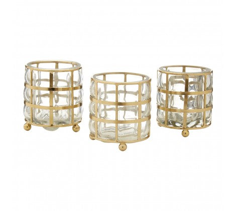 Set of 3 Gold Tea Lights - Decor Interiors -  House & Home