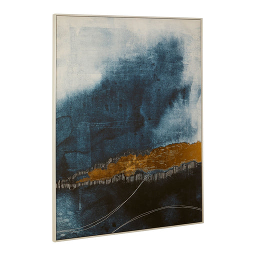 Abstract Blue / Gold Wall Art - Decor Interiors -  House & Home