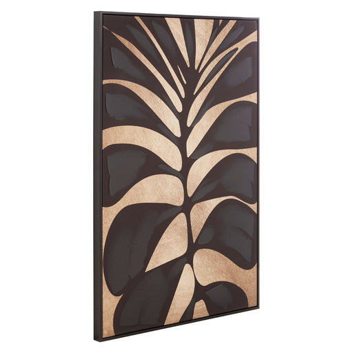 Abstract Canvas Black Leaf Design Wall Art - Decor Interiors -  House & Home