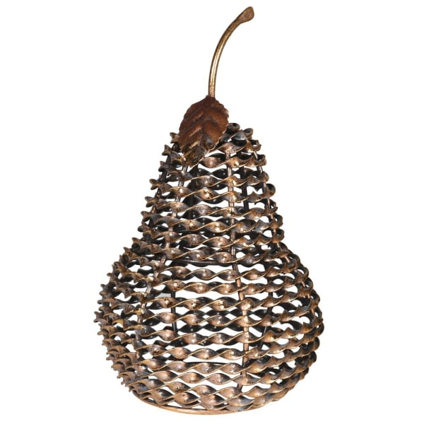 Twisted Metal Deco Pear - Decor Interiors -  House & Home