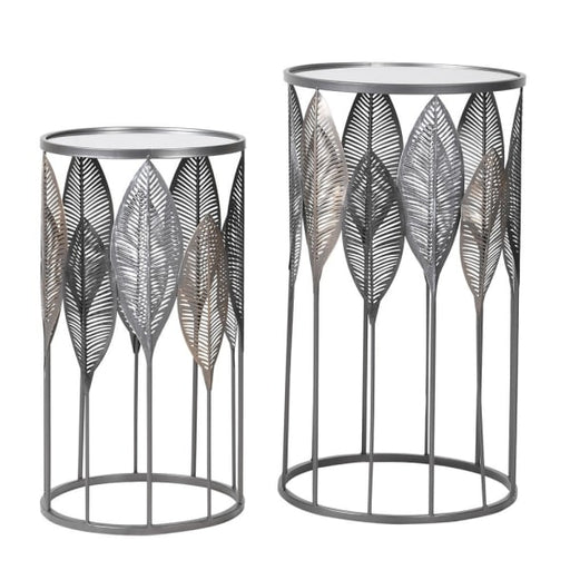 Set of 2 Leaf Side Table - Decor Interiors -  House & Home