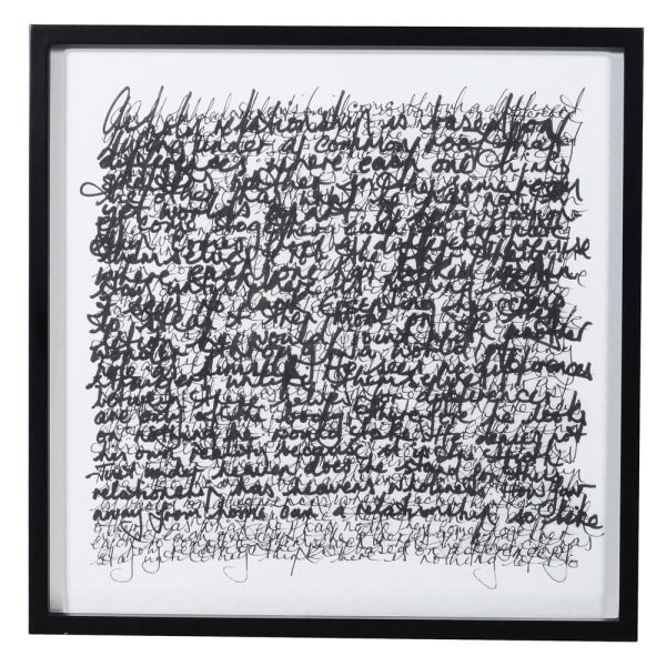 Handwriting Scribbles Picture - Decor Interiors -  House & Home