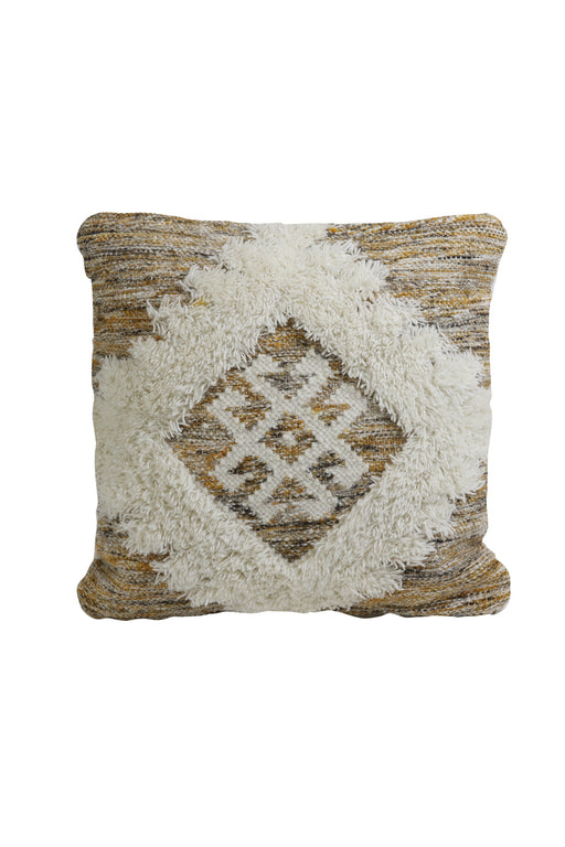Cushion 45x45 cm - Brown & Ochre White - Decor Interiors -  House & Home