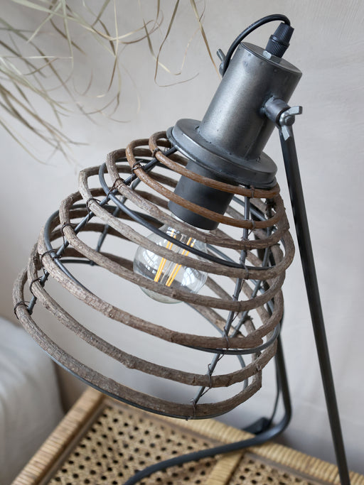 Metal Table Lamp with Rattan Shade - Decor Interiors -  House & Home