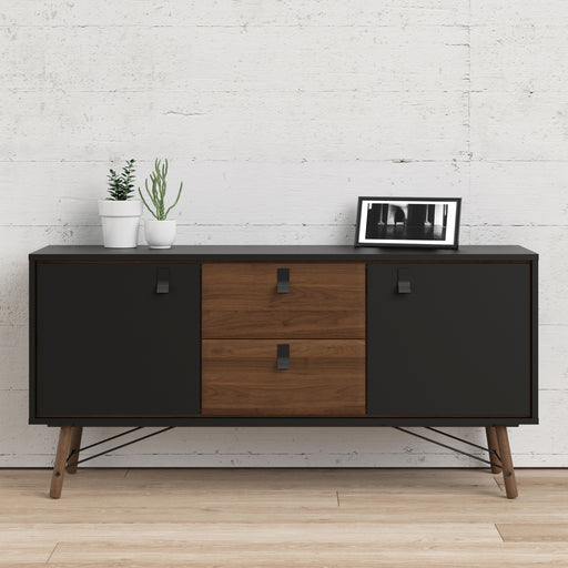 Stockholm 2 door, 2 drawer Sideboard in Matt Black Walnut - Decor Interiors -  House & Home