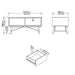 Stockholm Coffee Table with 1 Drawer in Matt White - Decor Interiors -  House & Home