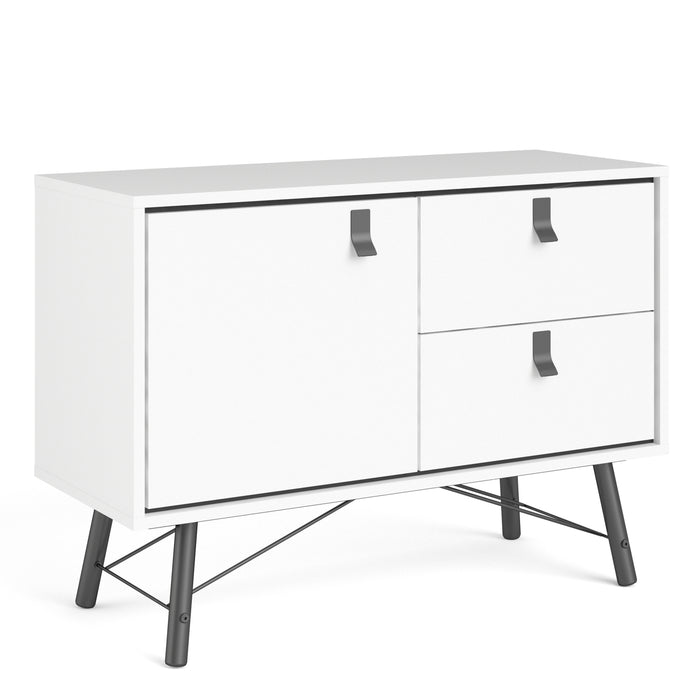 Stockholm Sideboard with 1 door + 2 Drawers in White Matt - Decor Interiors -  House & Home