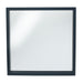 The Gallery Collection - Matt Black Wood Veneer Square Mirror - Decor Interiors -  House & Home
