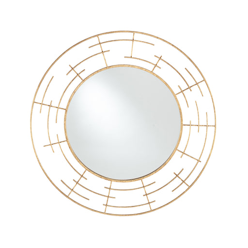 Tara Gold Metal Frame Round Wall Mirror - Decor Interiors -  House & Home