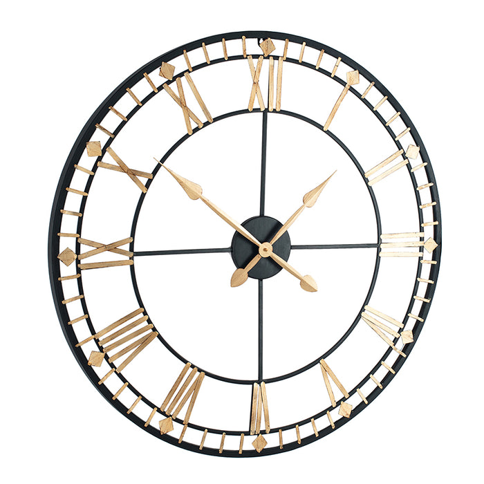 Antique Bronze & Gold Metal Round Wall Clock - Decor Interiors -  House & Home