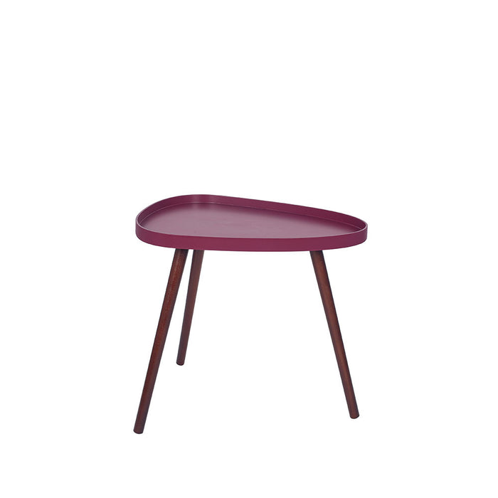 Clarice Raspberry MDF and Brown Pine Wood Teardrop Table - Decor Interiors -  House & Home