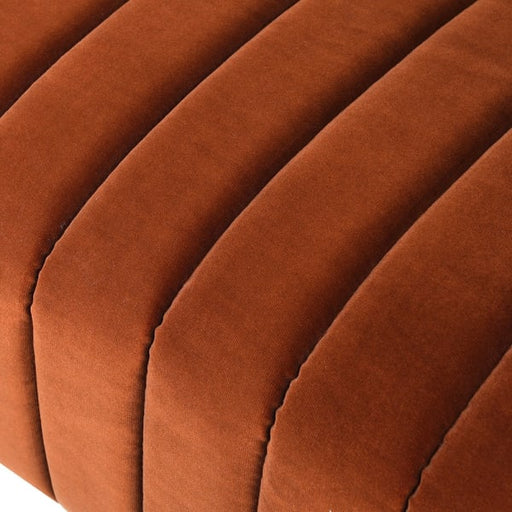 Stockholm Burnt Orange Ribbed 2 Seater Sofa - Decor Interiors -  House & Home