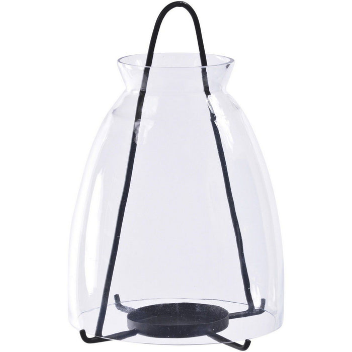 Clear Glass Medium Lantern - Decor Interiors -  House & Home