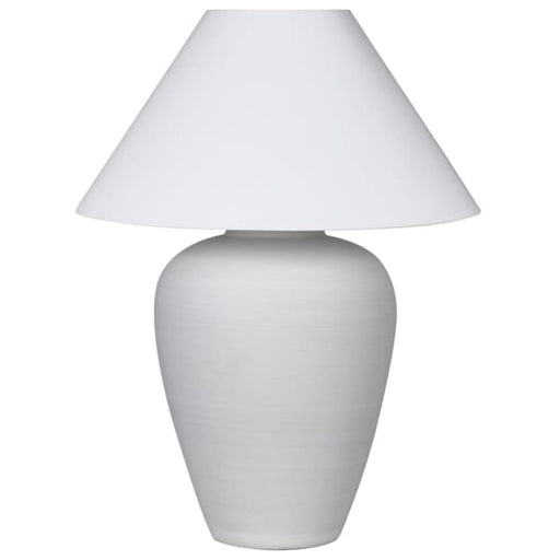 Terra White Ceramic Lamp with White Shade - Decor Interiors -  House & Home