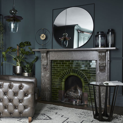 Newton Black Metal Mirror - Decor Interiors -  House & Home