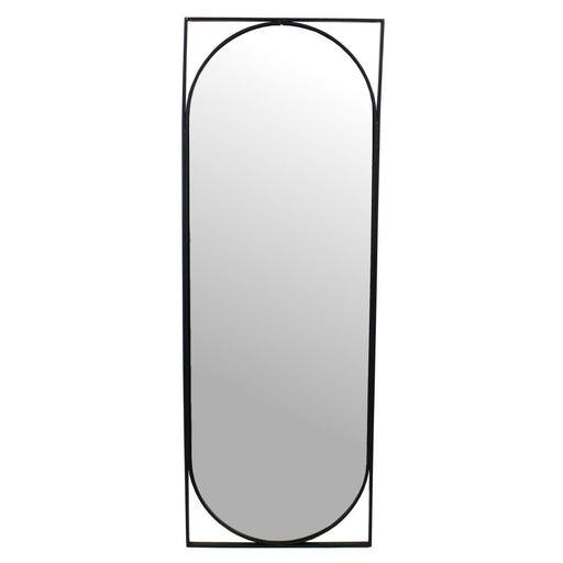 Issac Black Metal Mirror - Decor Interiors -  House & Home