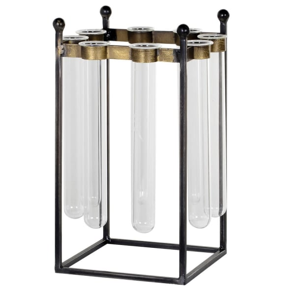 INDUSTRIAL STYLE 8 TEST TUBE VASE - Decor Interiors -  House & Home