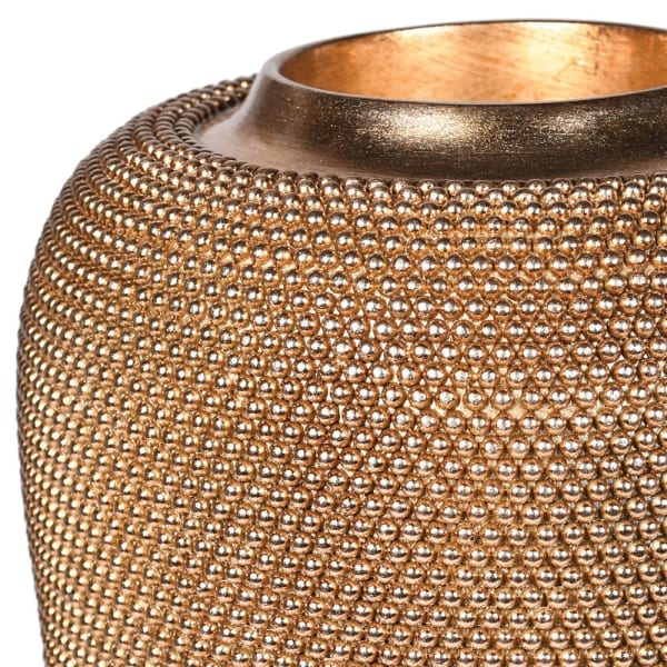 Antique Gold Beaded Vase - Decor Interiors -  House & Home