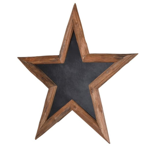 Wooden Framed Star Chalkboard - Decor Interiors -  House & Home