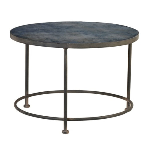 Prussian Blue Pattern Glass Top Coffee Table - Decor Interiors -  House & Home