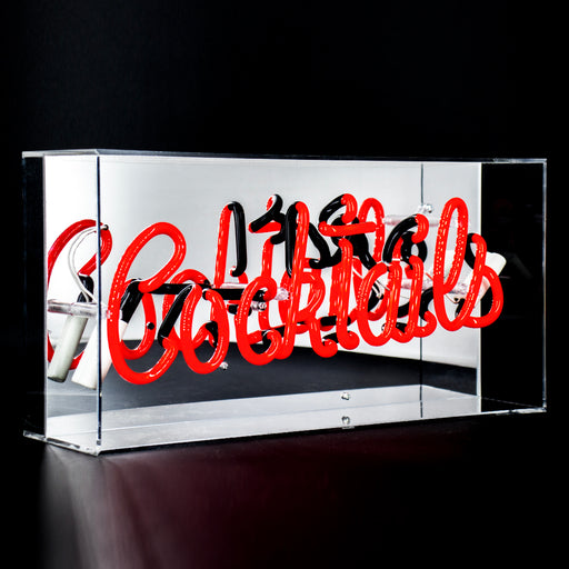 'COCKTAILS' IN PINK ACRYLIC BOX NEON LIGHT - Decor Interiors -  House & Home