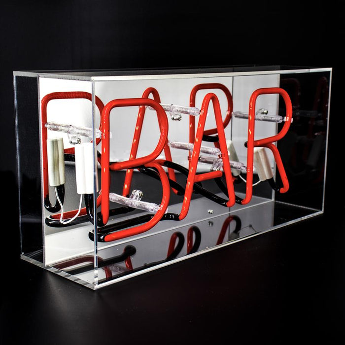 'BAR' ACRYLIC BOX NEON LIGHT - Decor Interiors -  House & Home