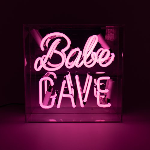 'BABE CAVE' ACRYLIC BOX NEON LIGHT - Decor Interiors -  House & Home