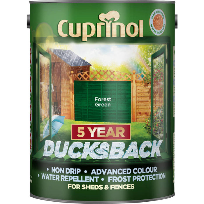 Cuprinol Ducksback - Forest Green - 5 or 9 Litres - Decor Interiors -  House & Home