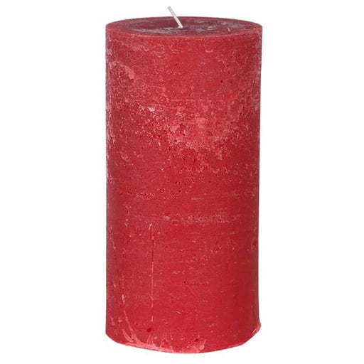 Medium Rustic Scented Red Pillar Candle Cedar & Balsam - Decor Interiors -  House & Home