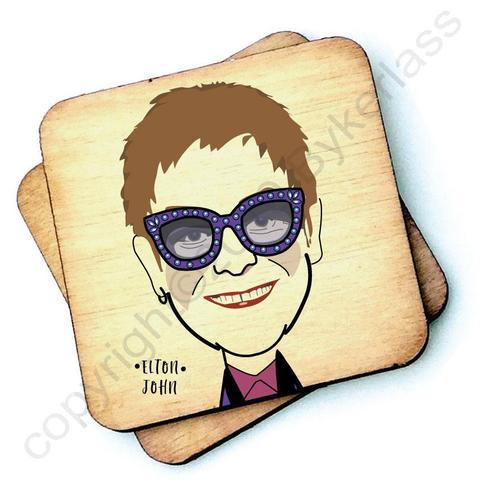 Elton John Character- Wooden Coasters - Decor Interiors -  House & Home