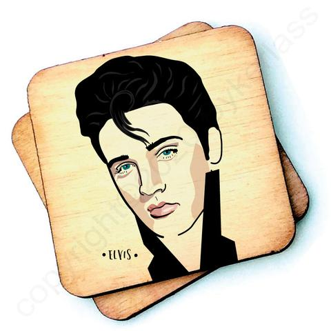 Elvis Character- Wooden Coasters - Decor Interiors -  House & Home
