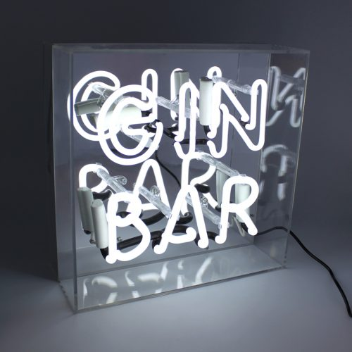 'GIN BAR' ACRYLIC BOX NEON LIGHT - Decor Interiors -  House & Home