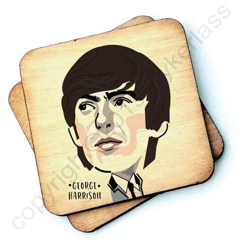 George Harrison / The Beatles Character- Wooden Coasters - Decor Interiors -  House & Home