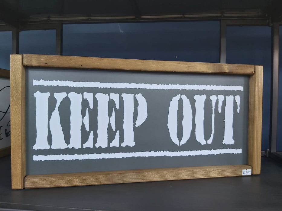 Rustic Handcrafted Signs - Keep Out - Decor Interiors -  House & Home