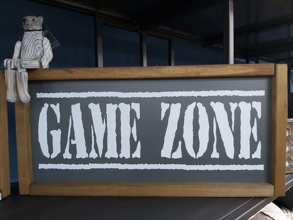 Rustic Handcrafted Signs - Game Zone - Decor Interiors -  House & Home