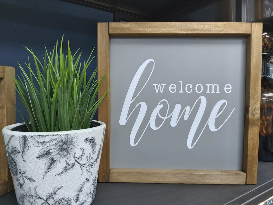 Rustic Handcrafted Signs - Welcome Home - Decor Interiors -  House & Home