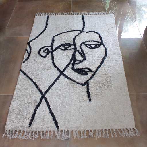 Cotton Rug with an Abstract Face - Decor Interiors -  House & Home
