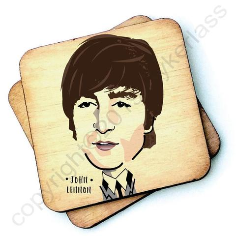 John Lennon / The Beatles Character- Wooden Coasters - Decor Interiors -  House & Home