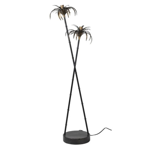 Black & Antique Gold Tropicana Palm Floor Lamp - Decor Interiors -  House & Home